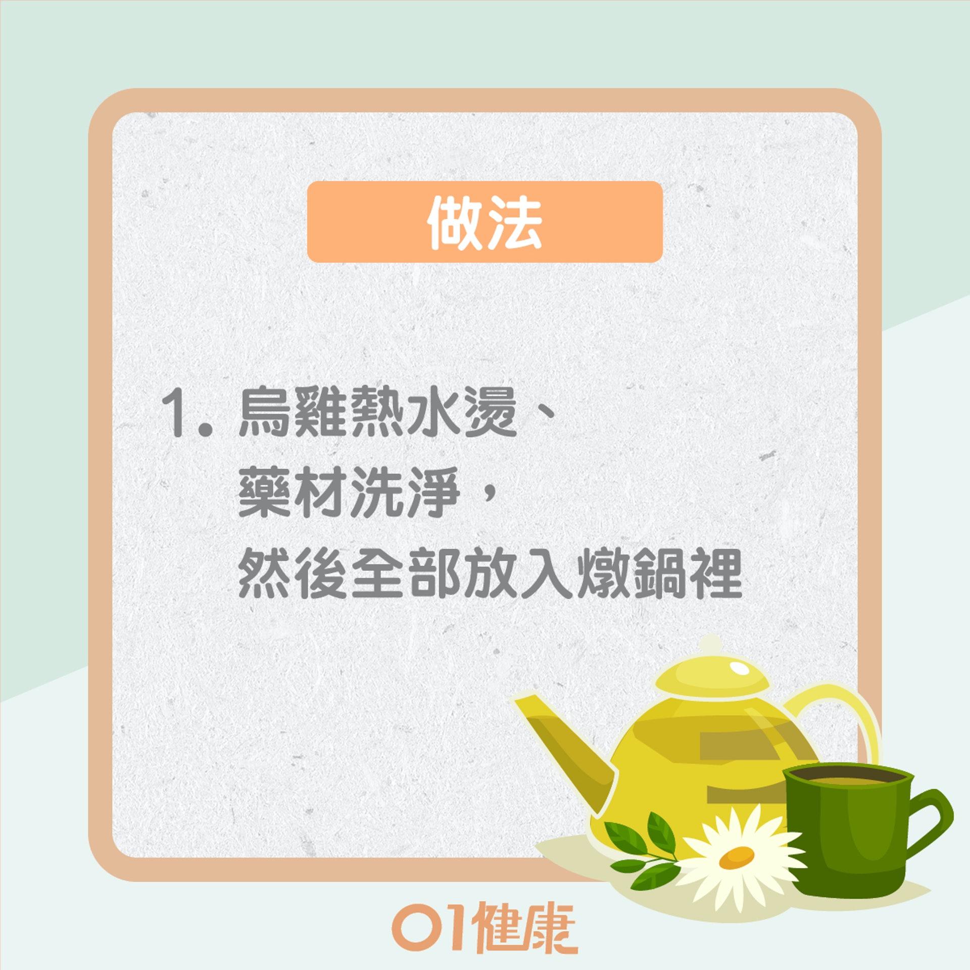何首烏烏骨雞湯(01製圖)