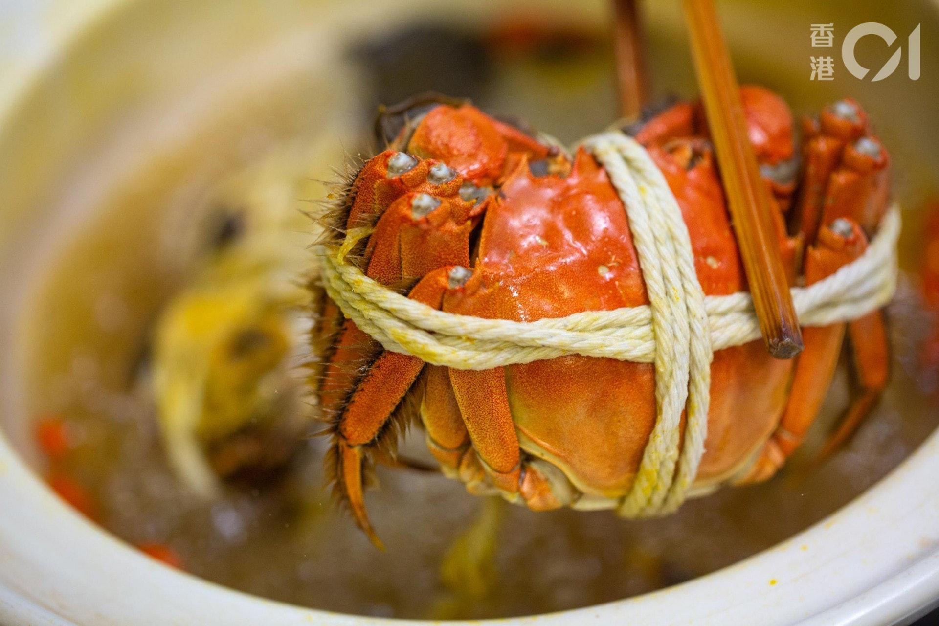 大閘蟹是寒涼帶濕的食品,如吃得過量,可能引起肚屙、咳嗽、敏感徵狀加劇等問題。(資料圖片/歐嘉樂攝)