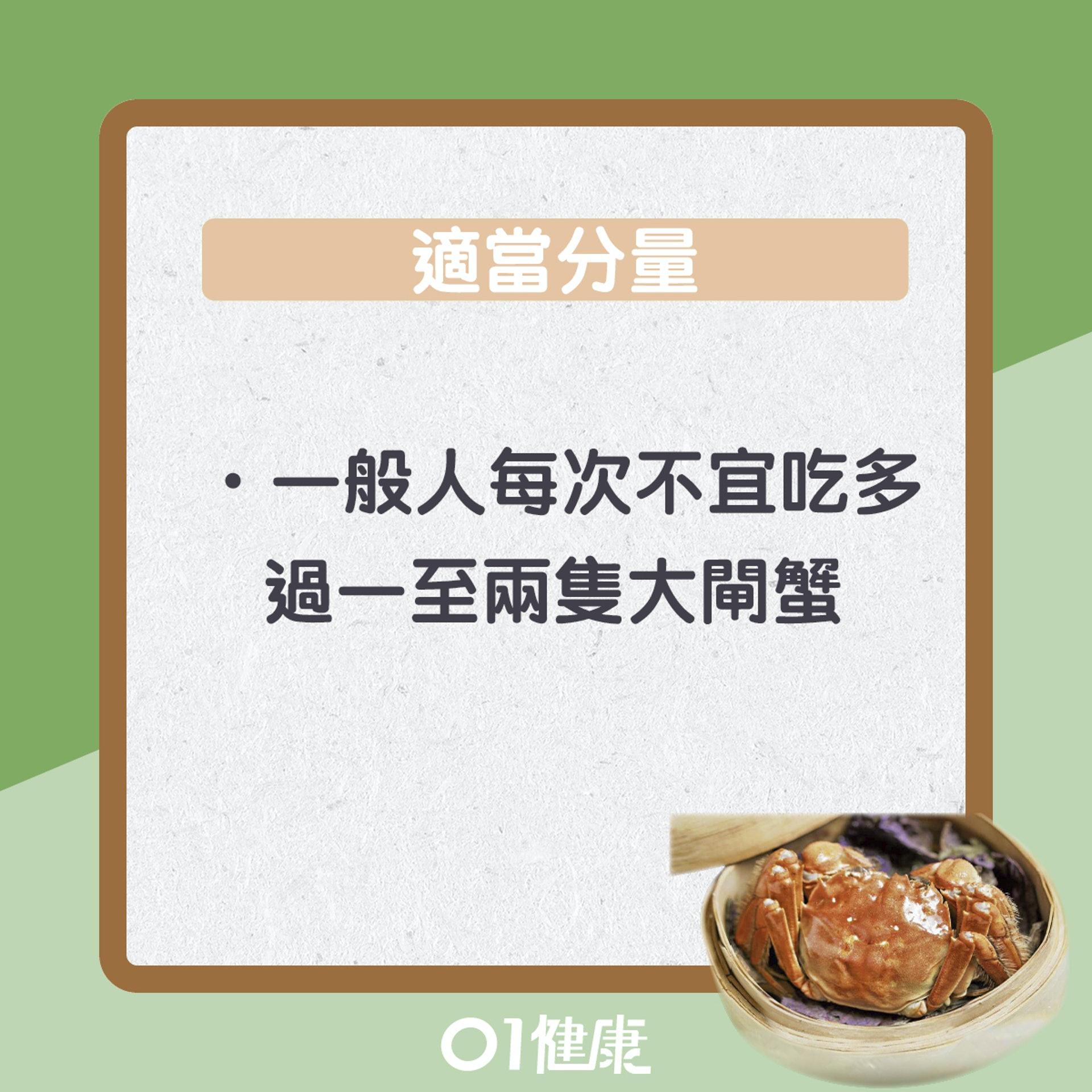 進食過量大閘蟹徵狀(01製圖)