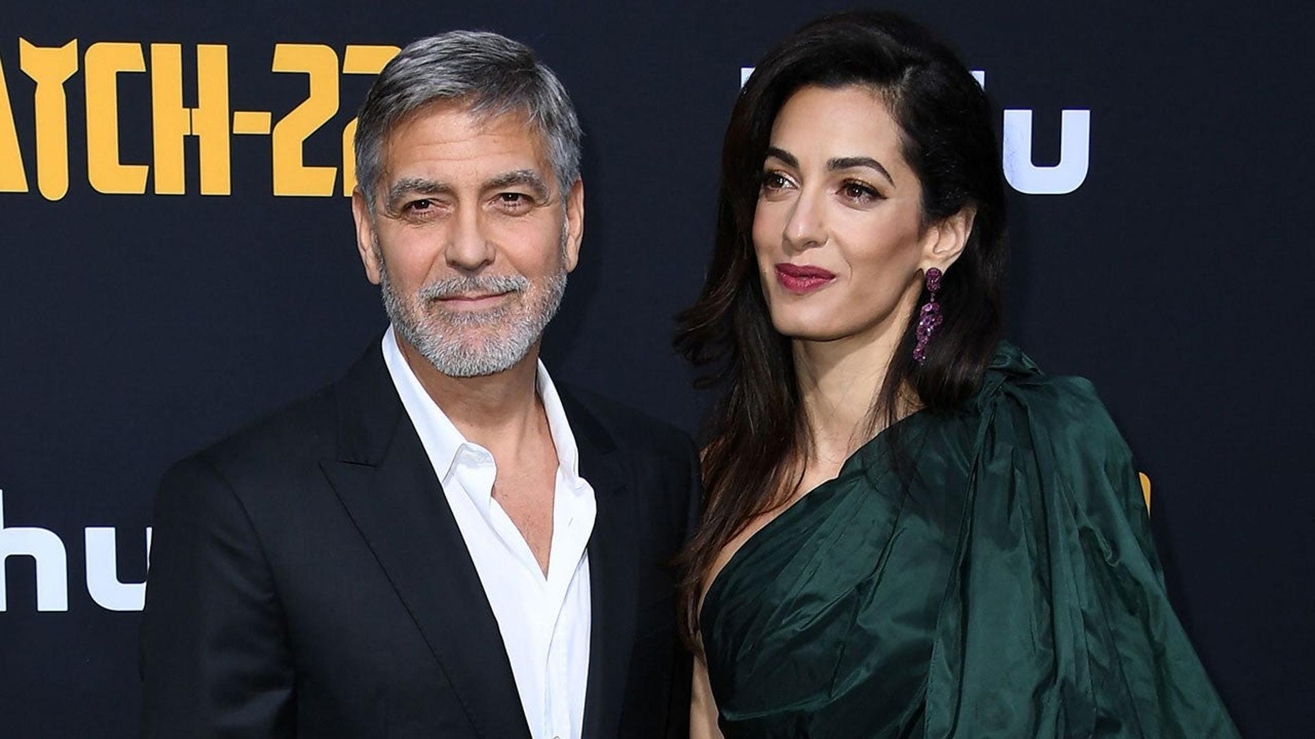 佐治古尼與妻子 Amal。 (資料圖片)