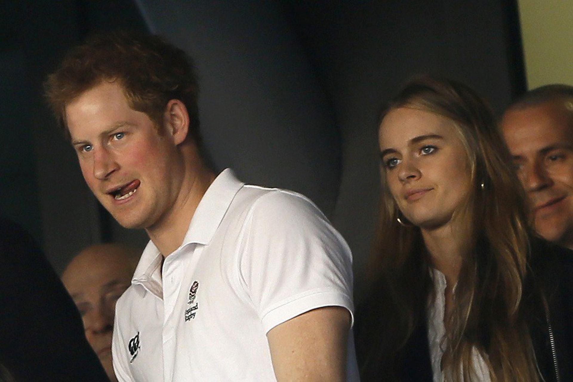 哈里王子曾與Cressida Bonas認真交往,曾被預期有機會結婚。(路透社)