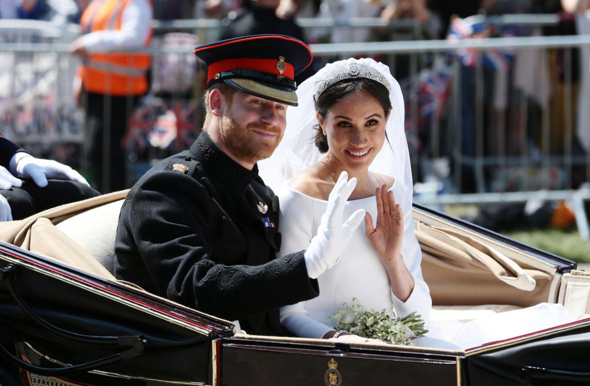 英國哈里王子與美國演員梅根在2018年結婚(GettyImages)