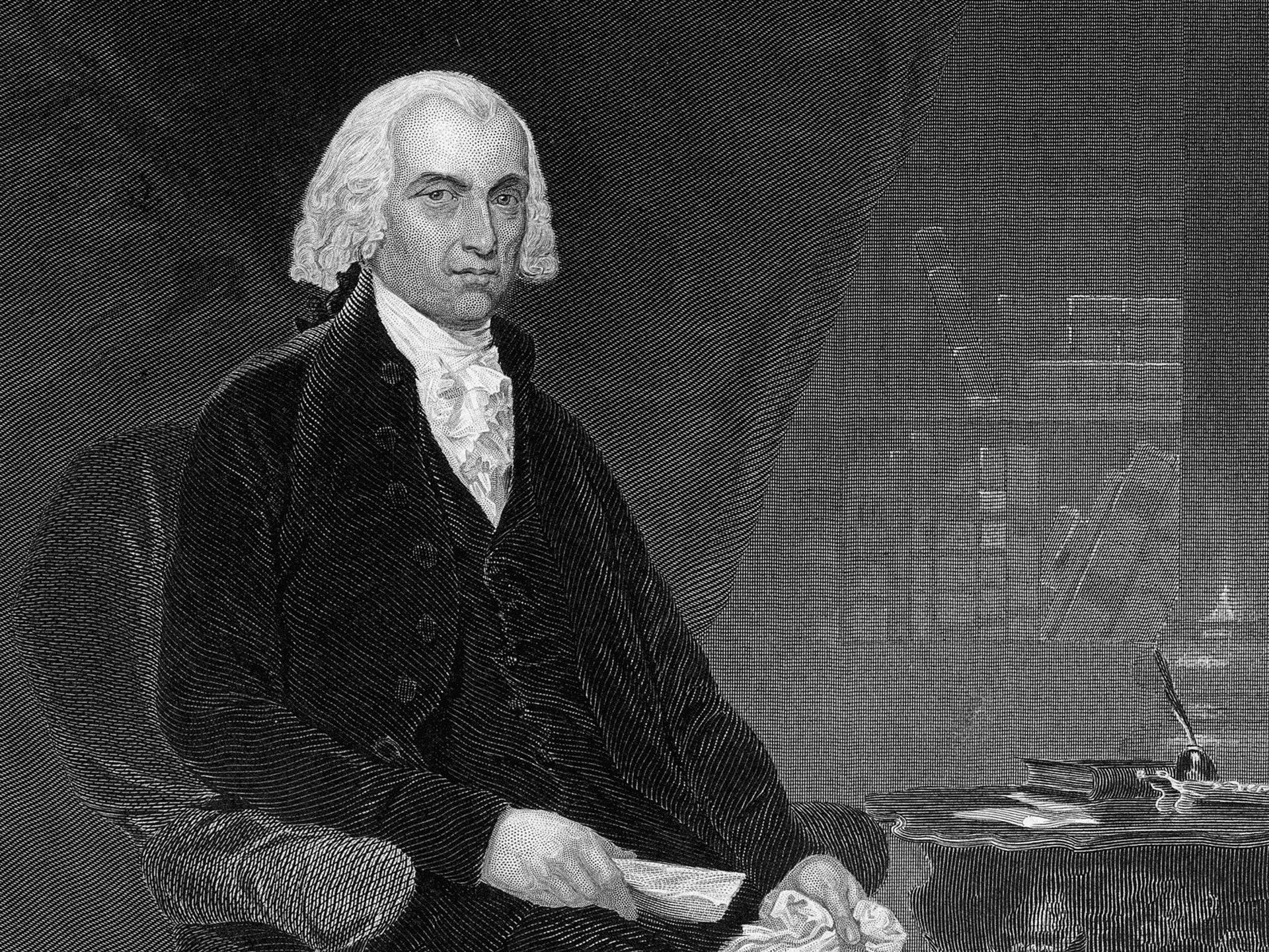 麥迪遜(James Madison)在費城會議裏極力主張多數民主的危害,以及保護少數富人菁英的權力,渠在日後也出任第四任美國總統。(Getty)