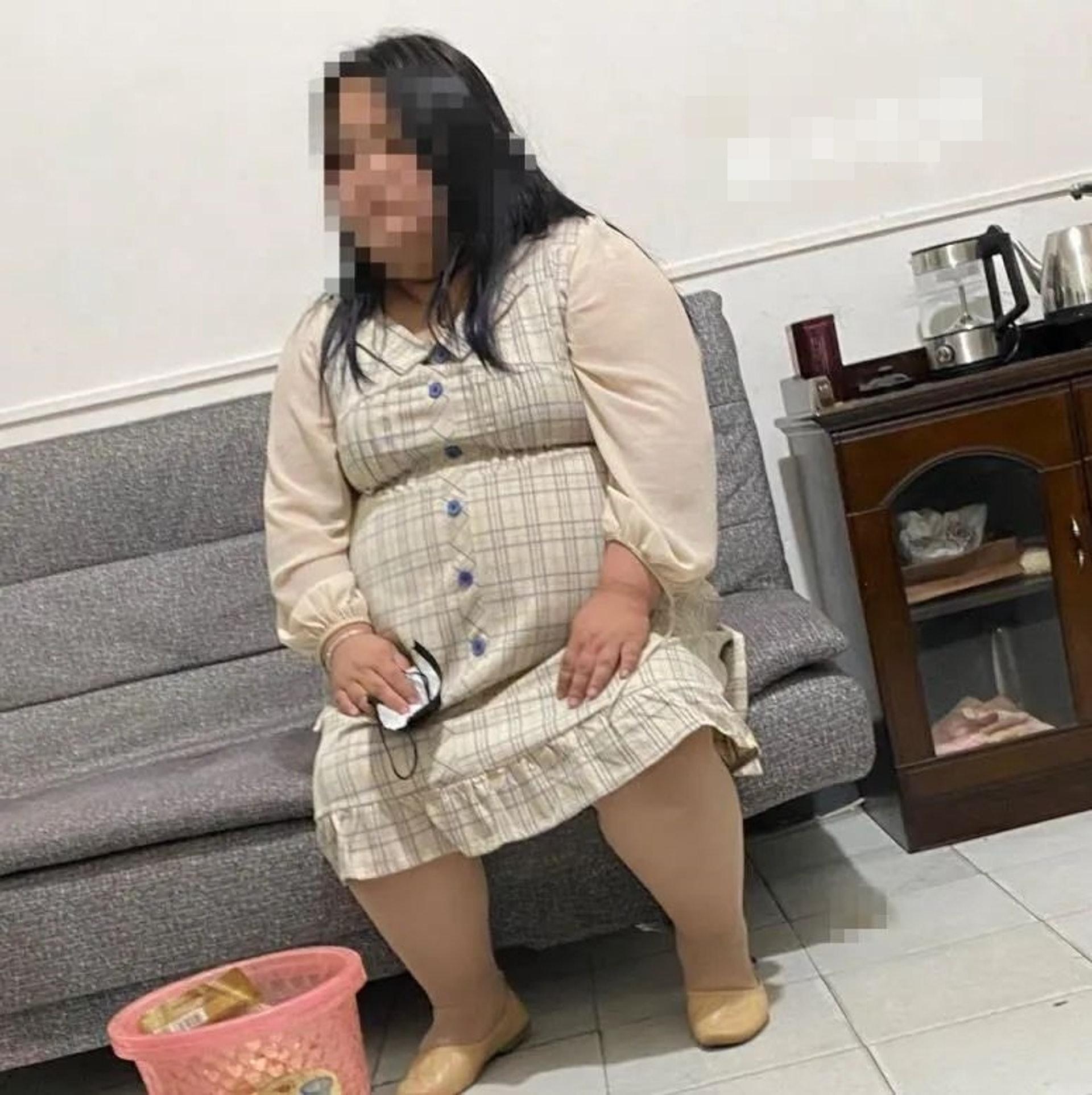 現實中的張某,體重達200多磅。(株洲晚報)