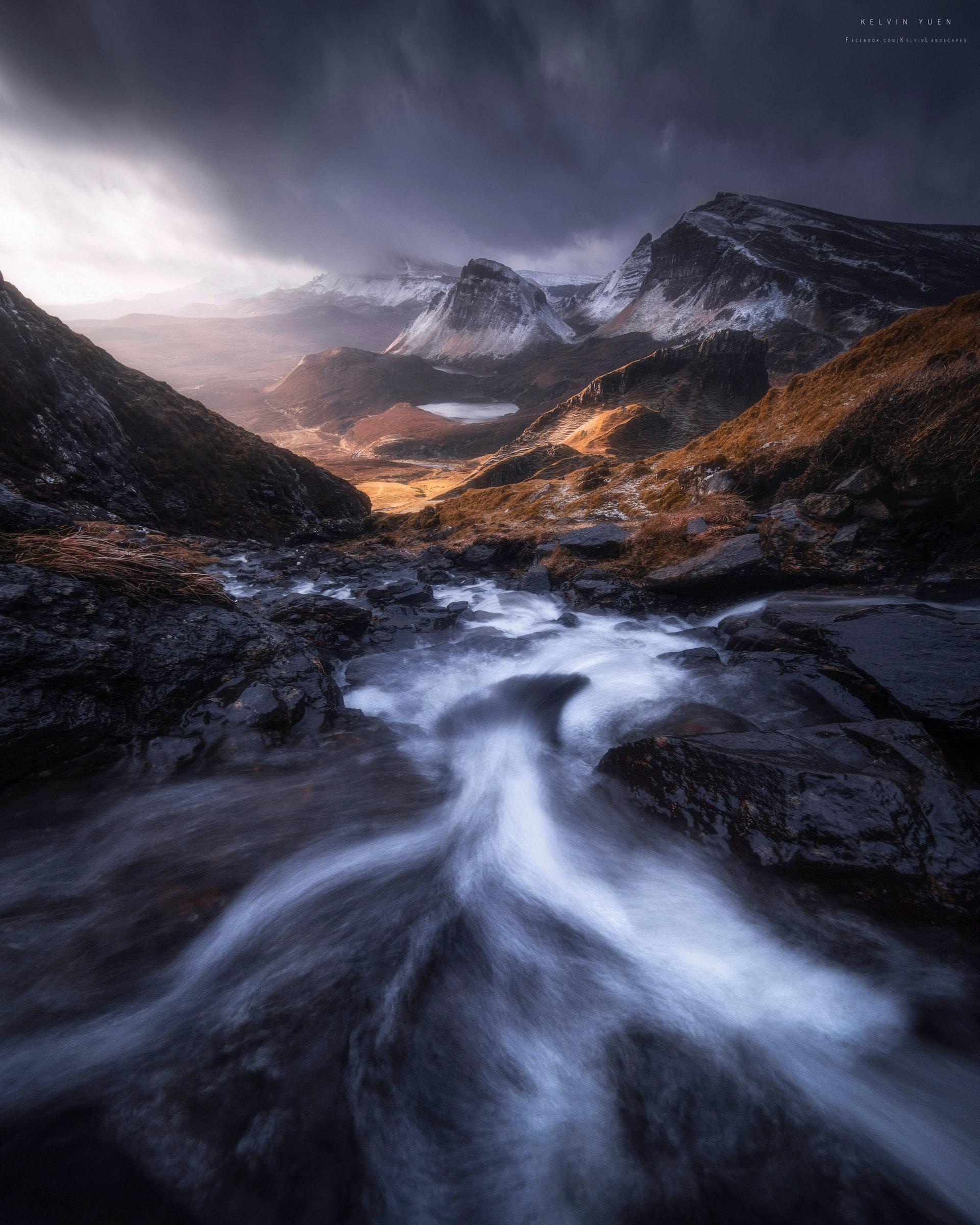 這張照片攝於蘇格蘭,名為Flow。(由受訪者提供/Kelvin Yuen攝)