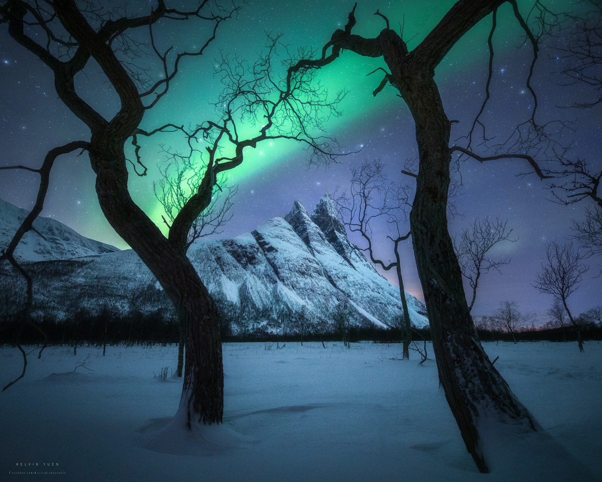 這張照片攝於挪威,名為Magical Night。(由受訪者提供/Kelvin Yuen攝)
