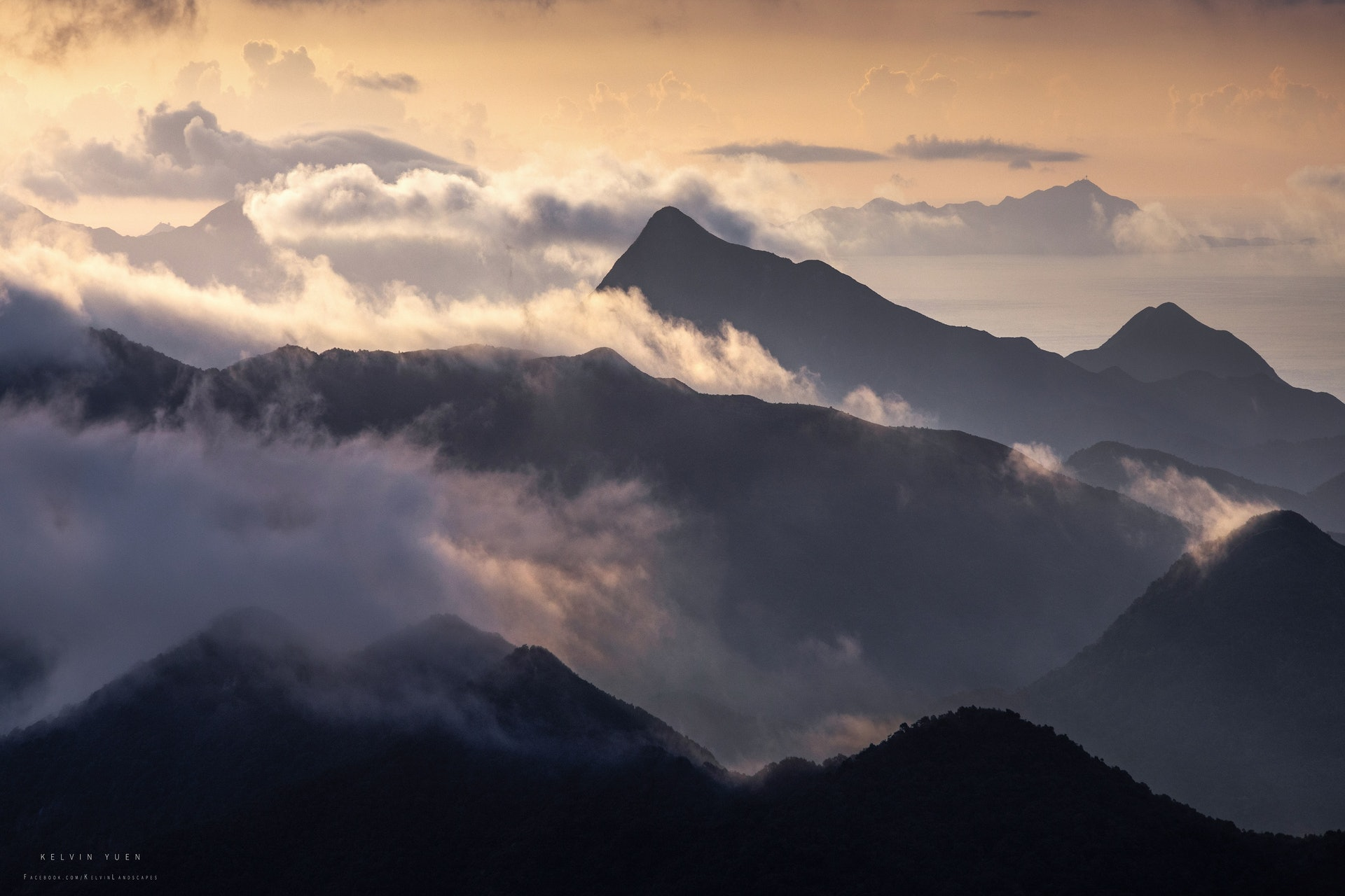 馬鞍山望西貢蚺蛇尖。(由受訪者提供/Kelvin Yuen攝)