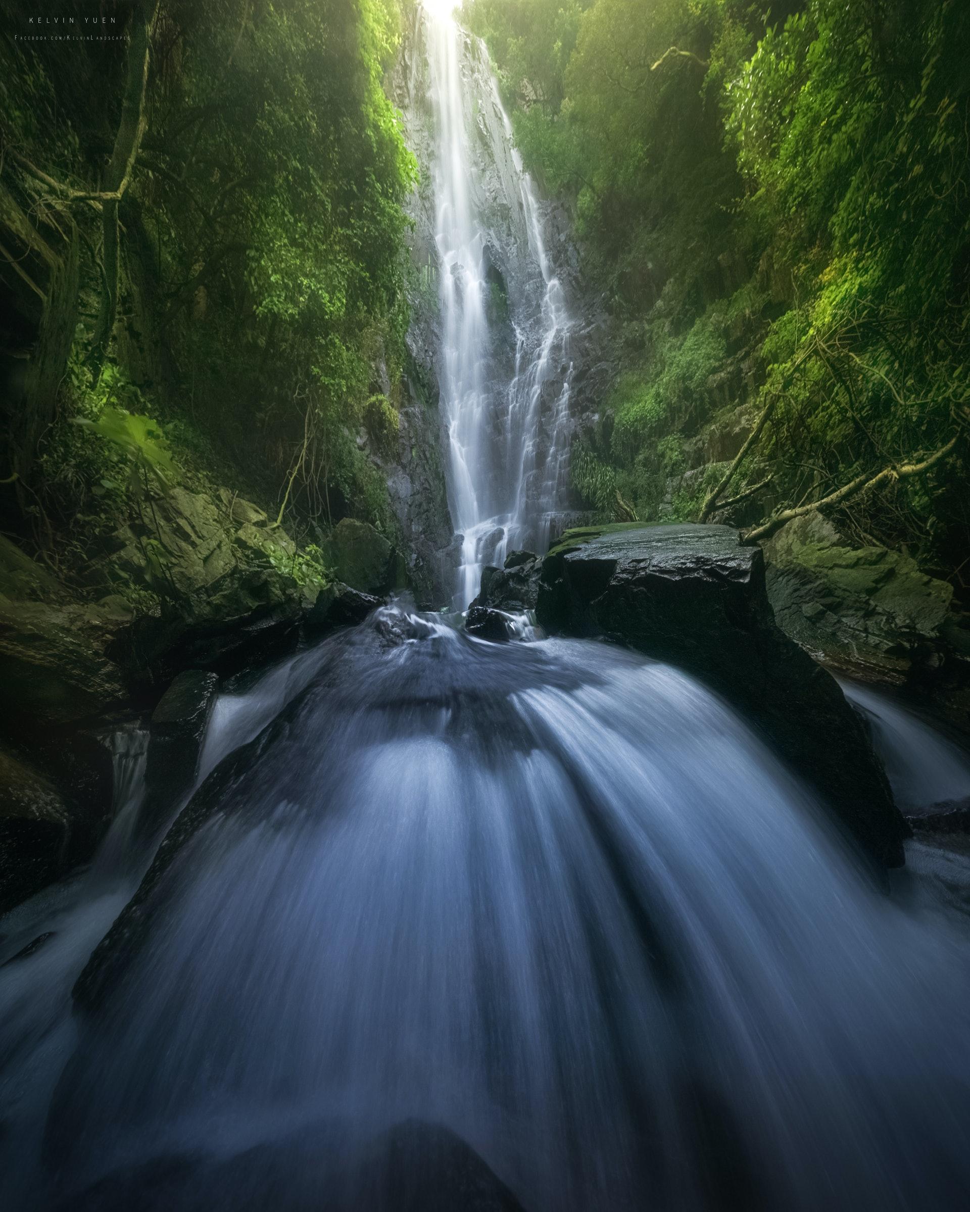 白水碗瀑布。(由受訪者提供/Kelvin Yuen攝)