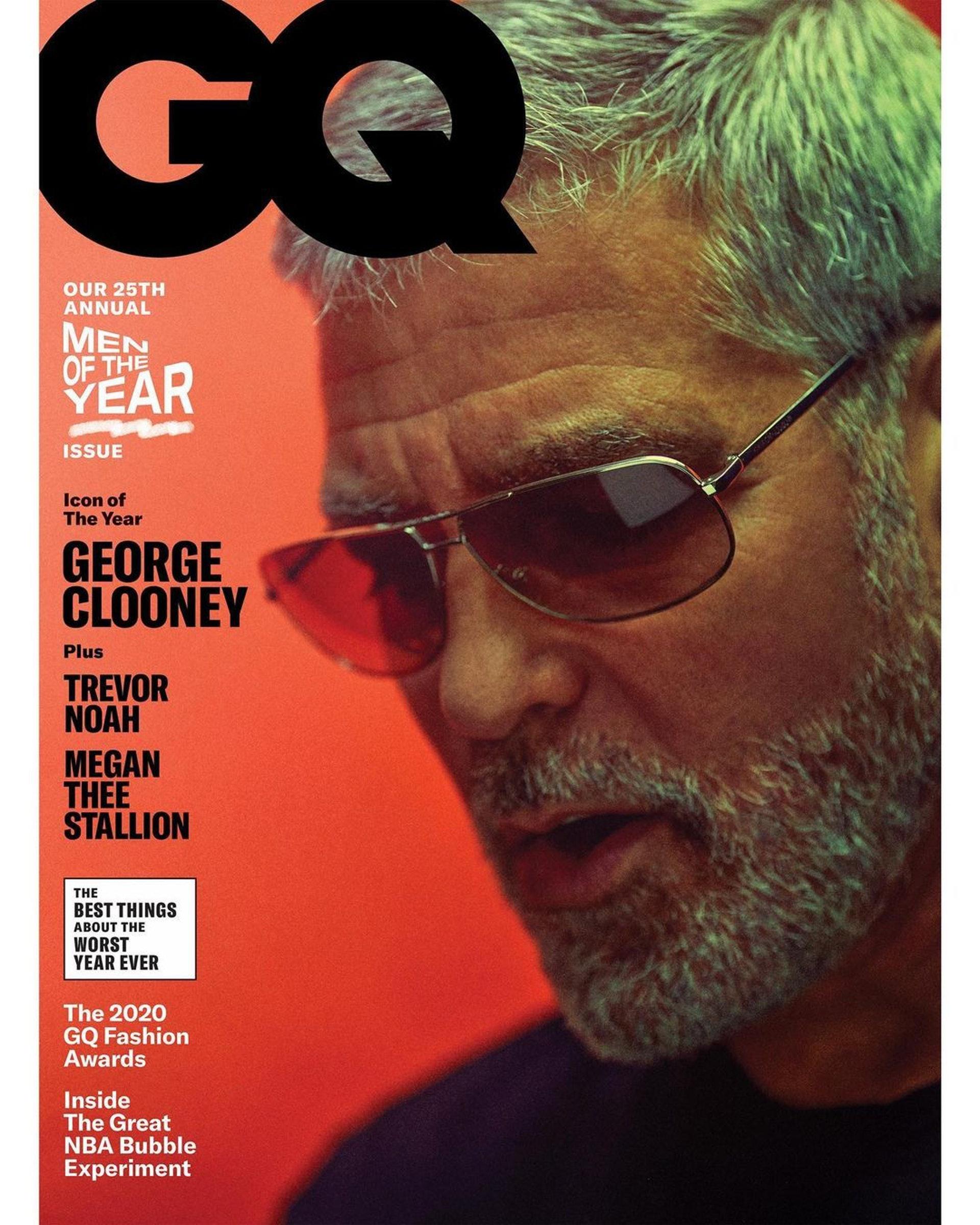 現年59歲的佐治古尼(George Clooney)最近登上新一期《GQ》雜誌封面。(IG圖片)