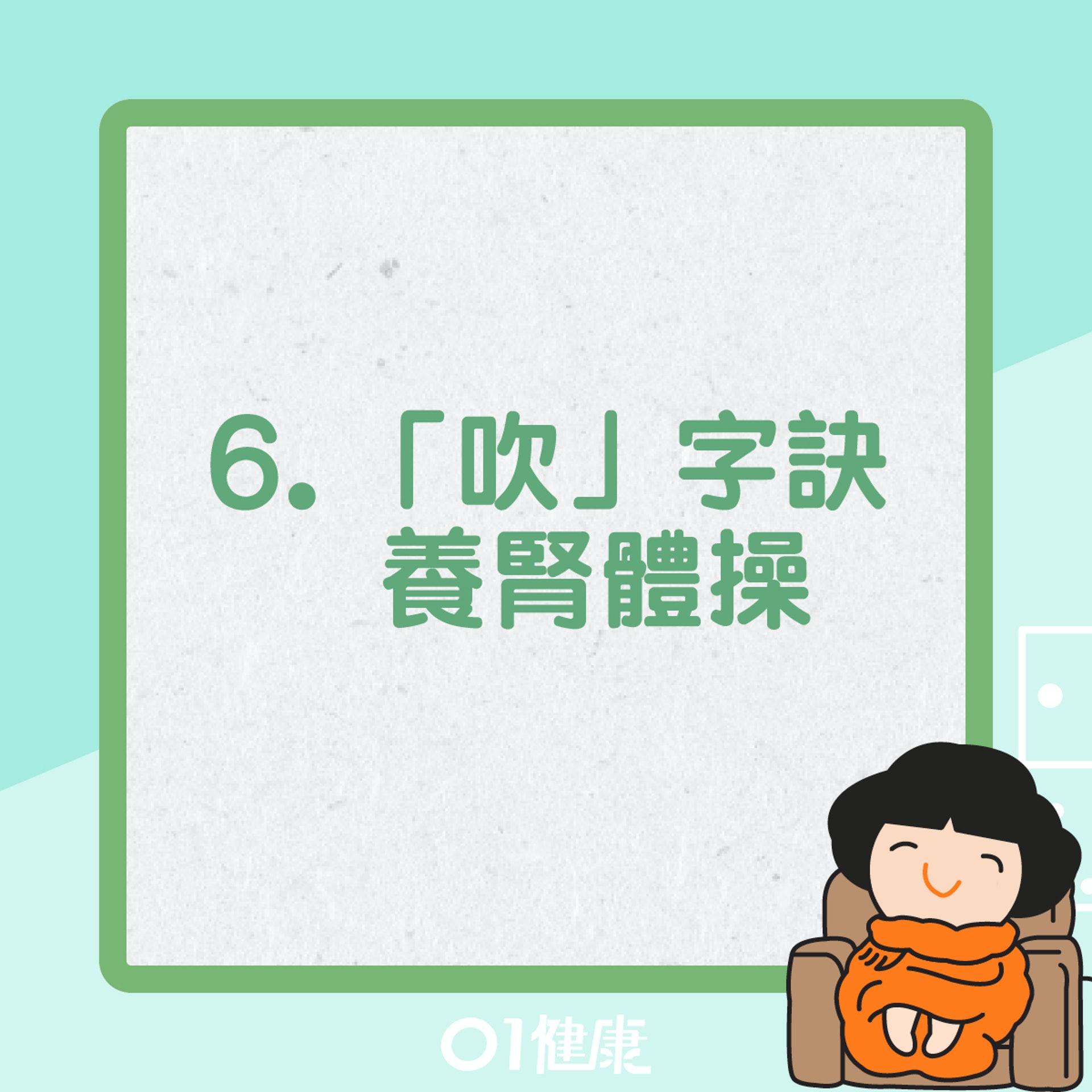 「吹」字訣養腎體操 (01製圖)