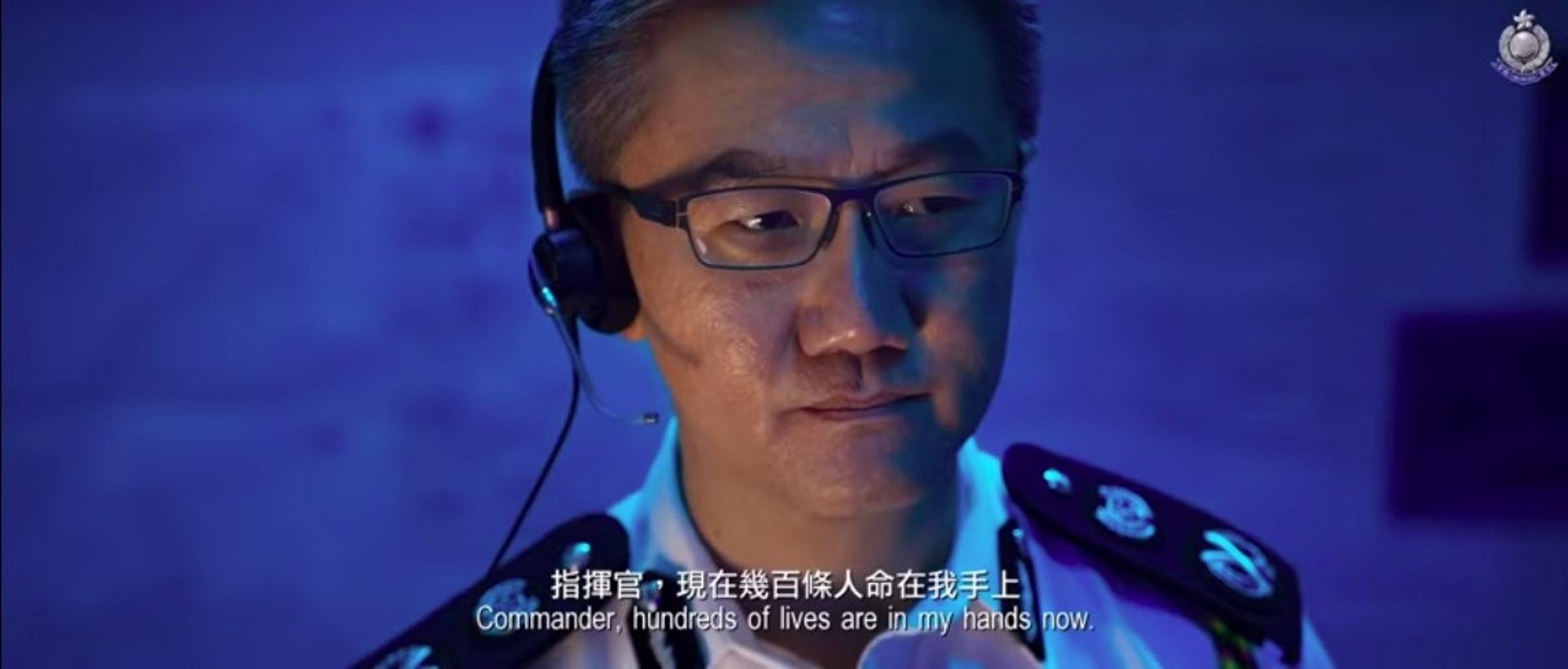 警務處副處長(行動)蕭澤頤粉墨登場。(《守城》截圖)