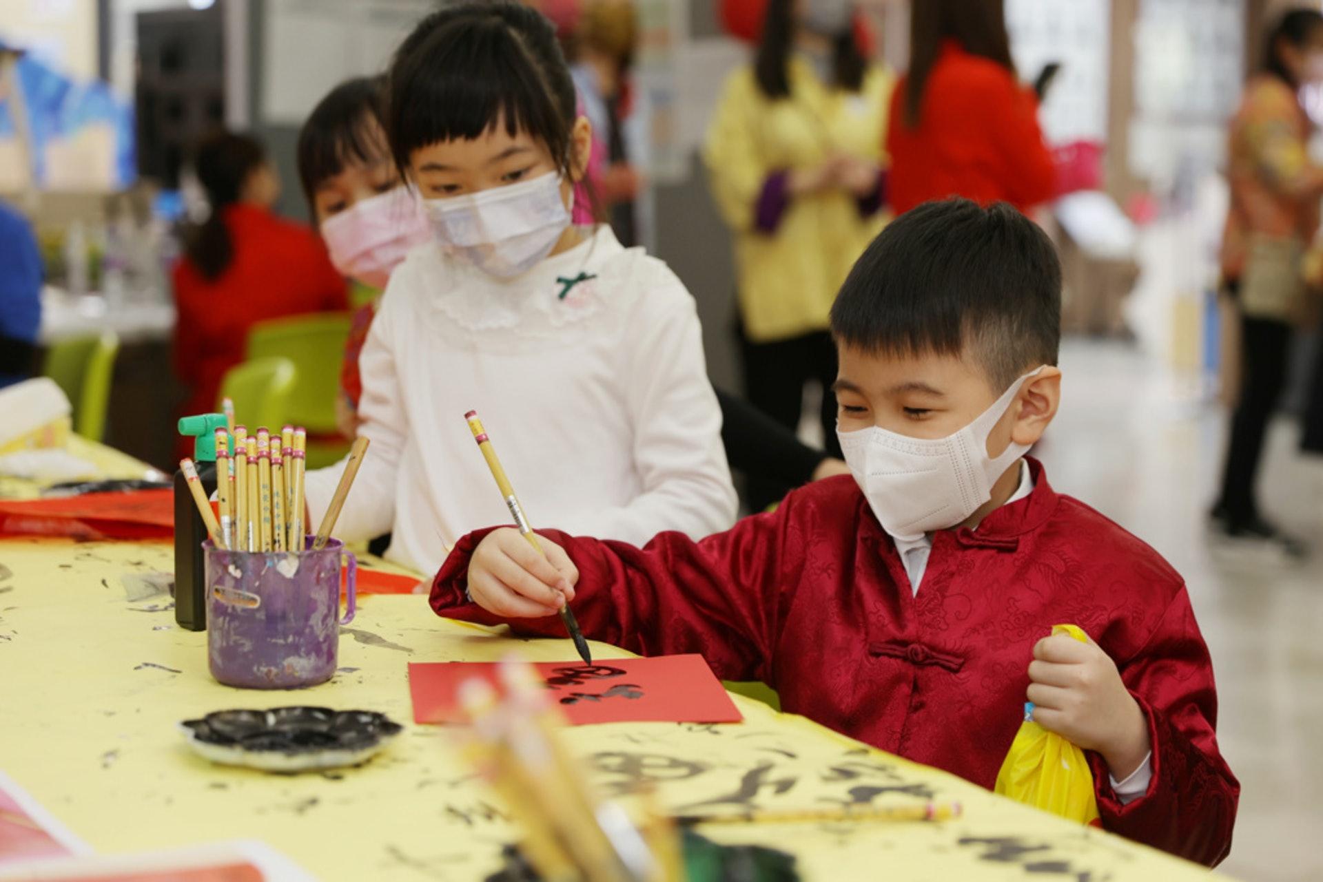 學生玩得很開心。