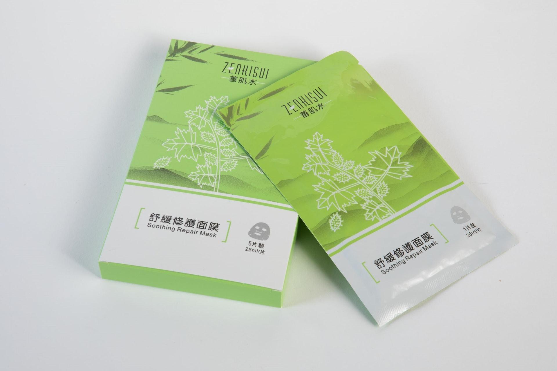 Zenkisui 善肌水 - 舒緩修復面膜,有效抗菌消炎,祛濕止癢。