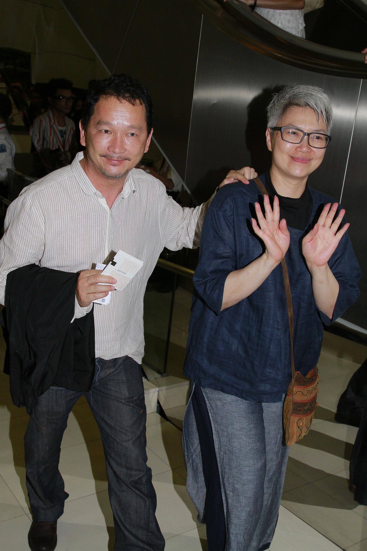 廖啟智與太太陳敏兒。(資料圖片)