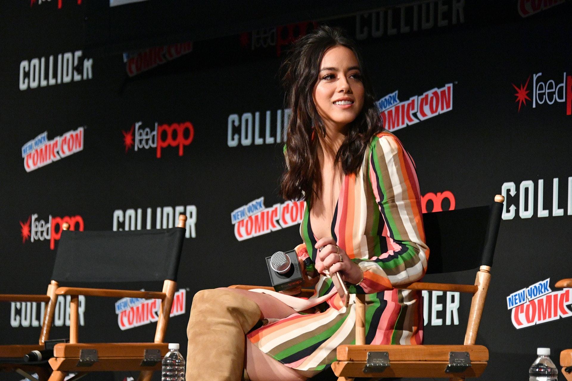 荷里活演員Chloe Bennet是中美混血兒。她的原名是Chole Wang。(Getty Images)