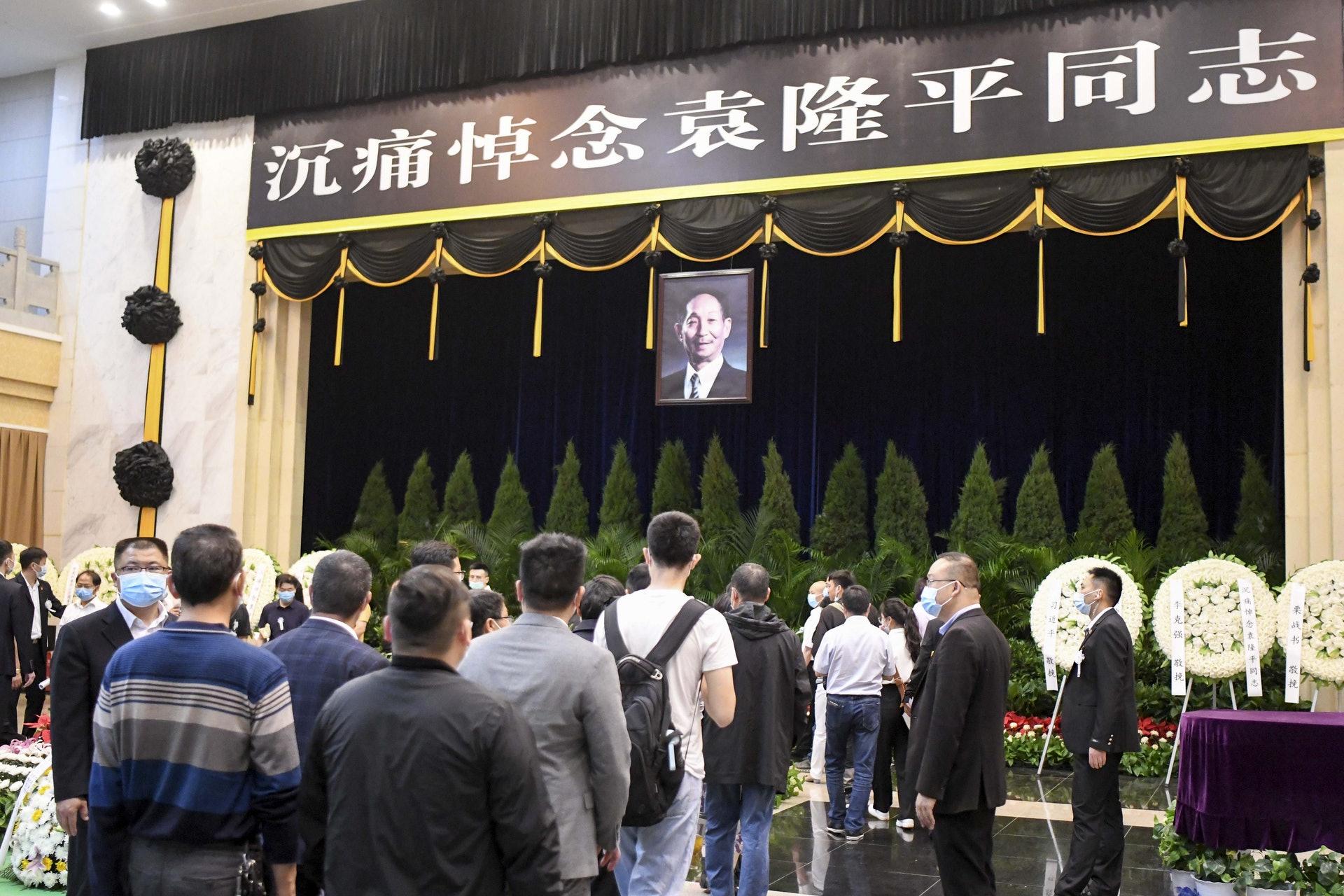 5月24日,袁隆平遺體送別儀式在湖南省長沙市明陽山殯儀館舉行。(中新社)