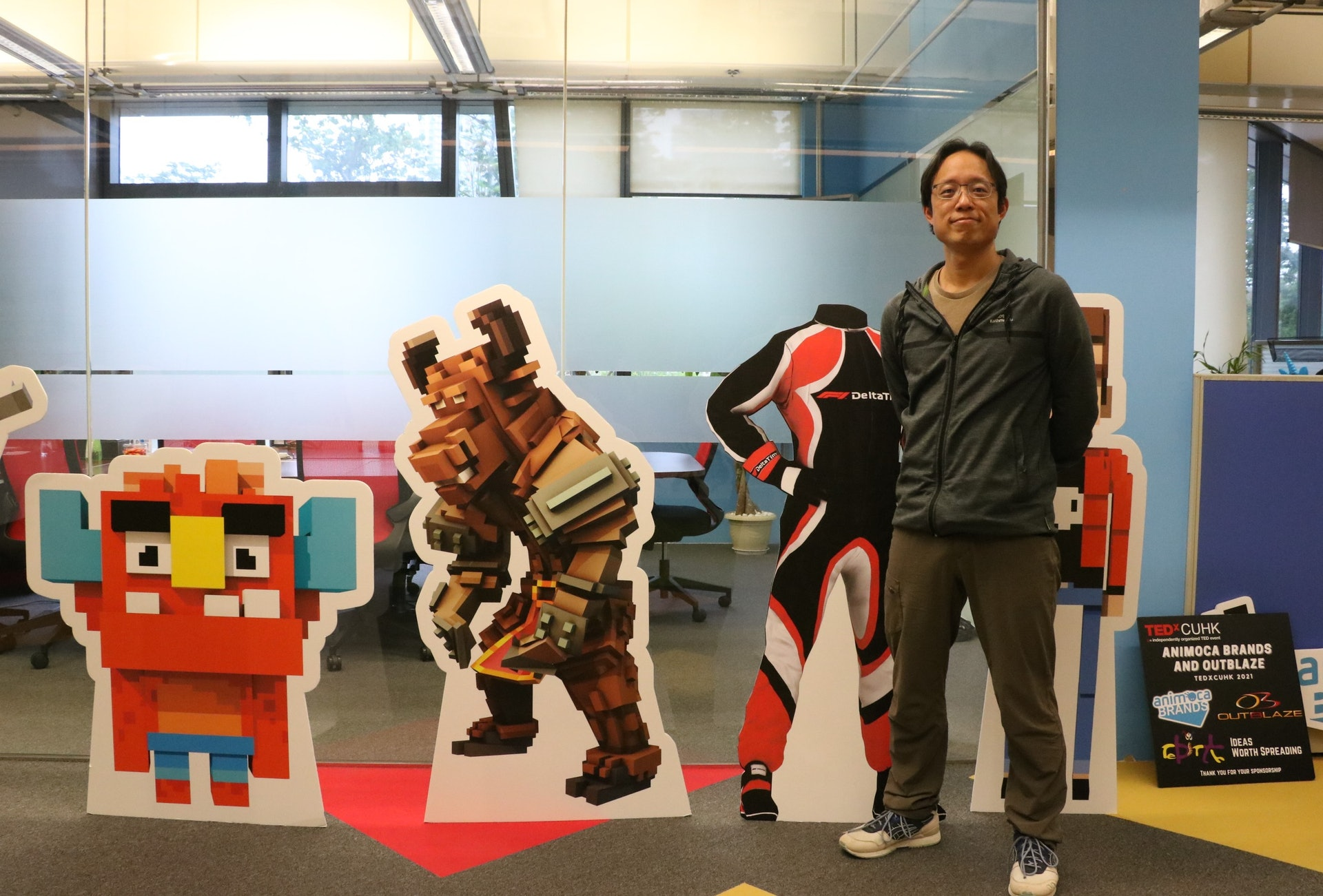Animoca Brands創辦人蕭逸(Yat Siu)預期,區塊鏈遊戲未來將成為電子遊戲其中一個主流,傳統遊戲商屆時將會因為市場需求而被迫跟隨。(伍振中攝)