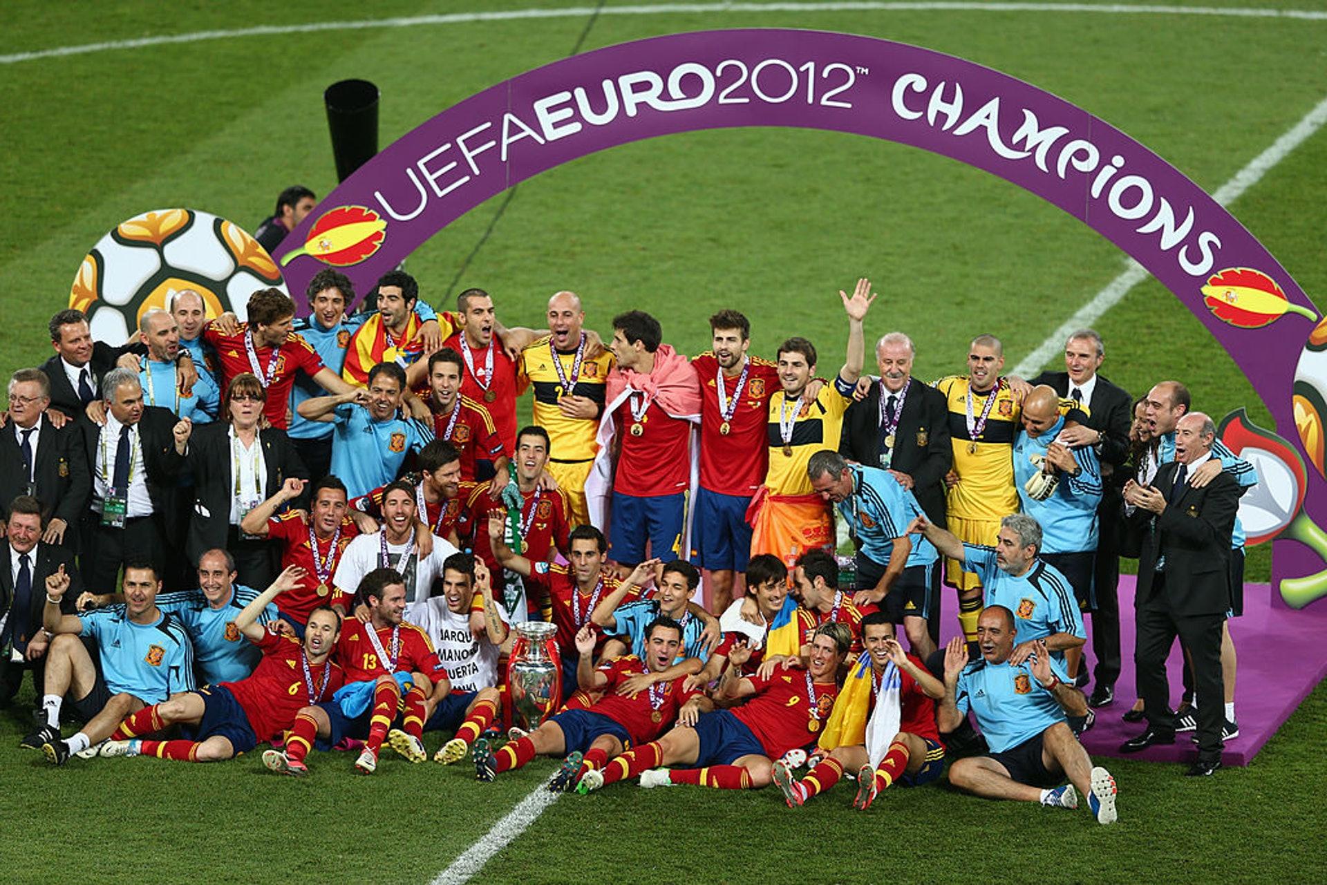 2012歐國盃冠軍:西班牙(23人名單)–26.74歲(Getty Images)