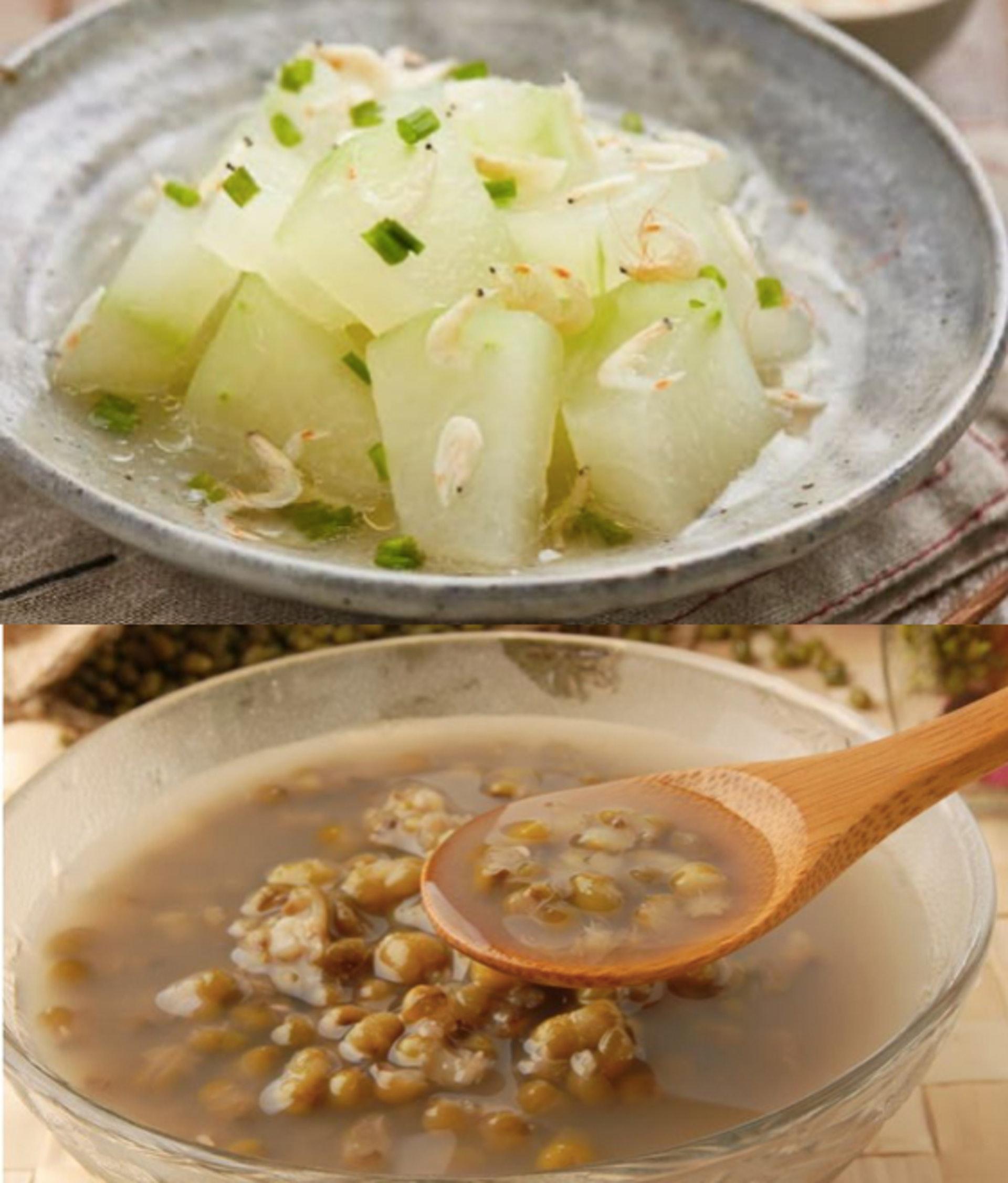 徐醫師建議大眾依照傳統民間智慧,在大暑當日吃冬瓜和喝綠豆湯。(圖片:cookidoo/mamaclub)