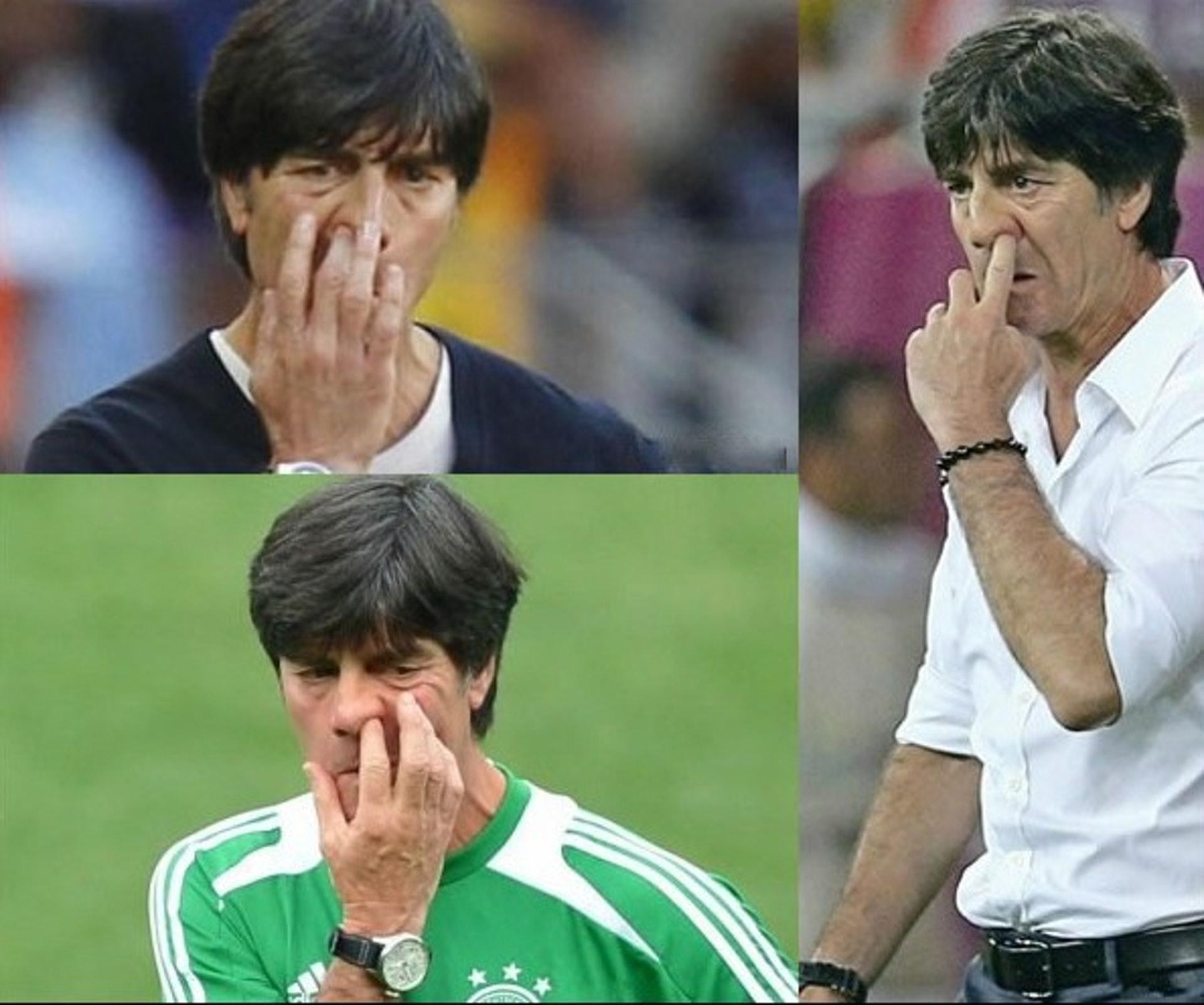 德國足球教練路維經常毫不避諱地在眾目睽睽下撩鼻屎再放入口。但鼻屎中帶有細菌甚至病毒,吃掉等於直接將細菌和病毒放入體內,絕對不是明智之舉。(圖片:sohu)