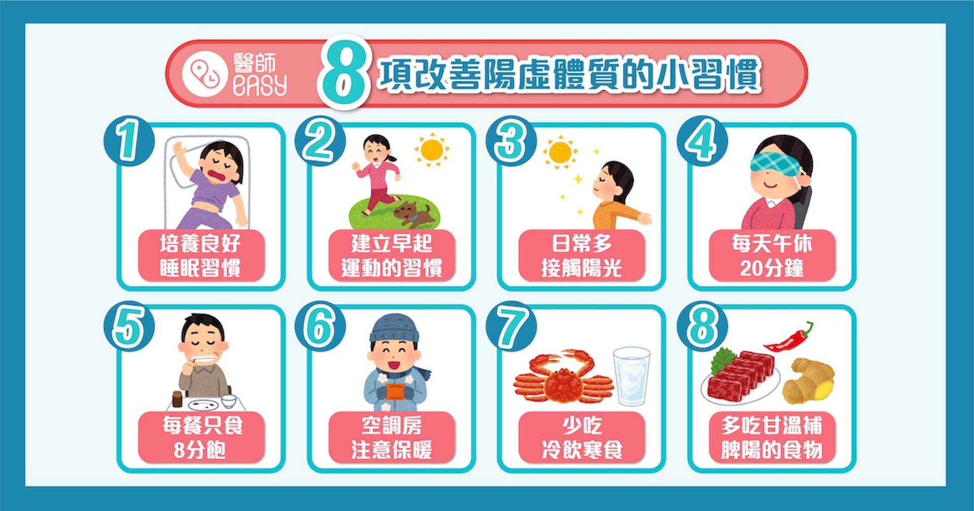 8項生活小習慣  長遠改善陽虛體質