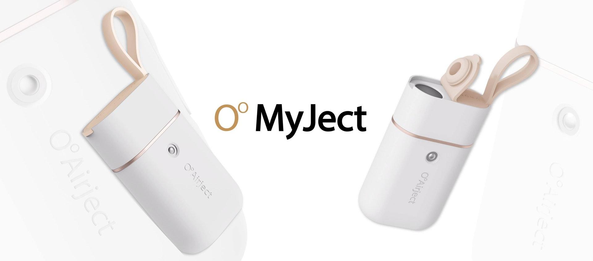 O°Airject的自家噴霧器「MyJect」,機物輕巧便攜,適合任何場合進行全方位消毒及殺菌。(圖片:OᵒAirject)