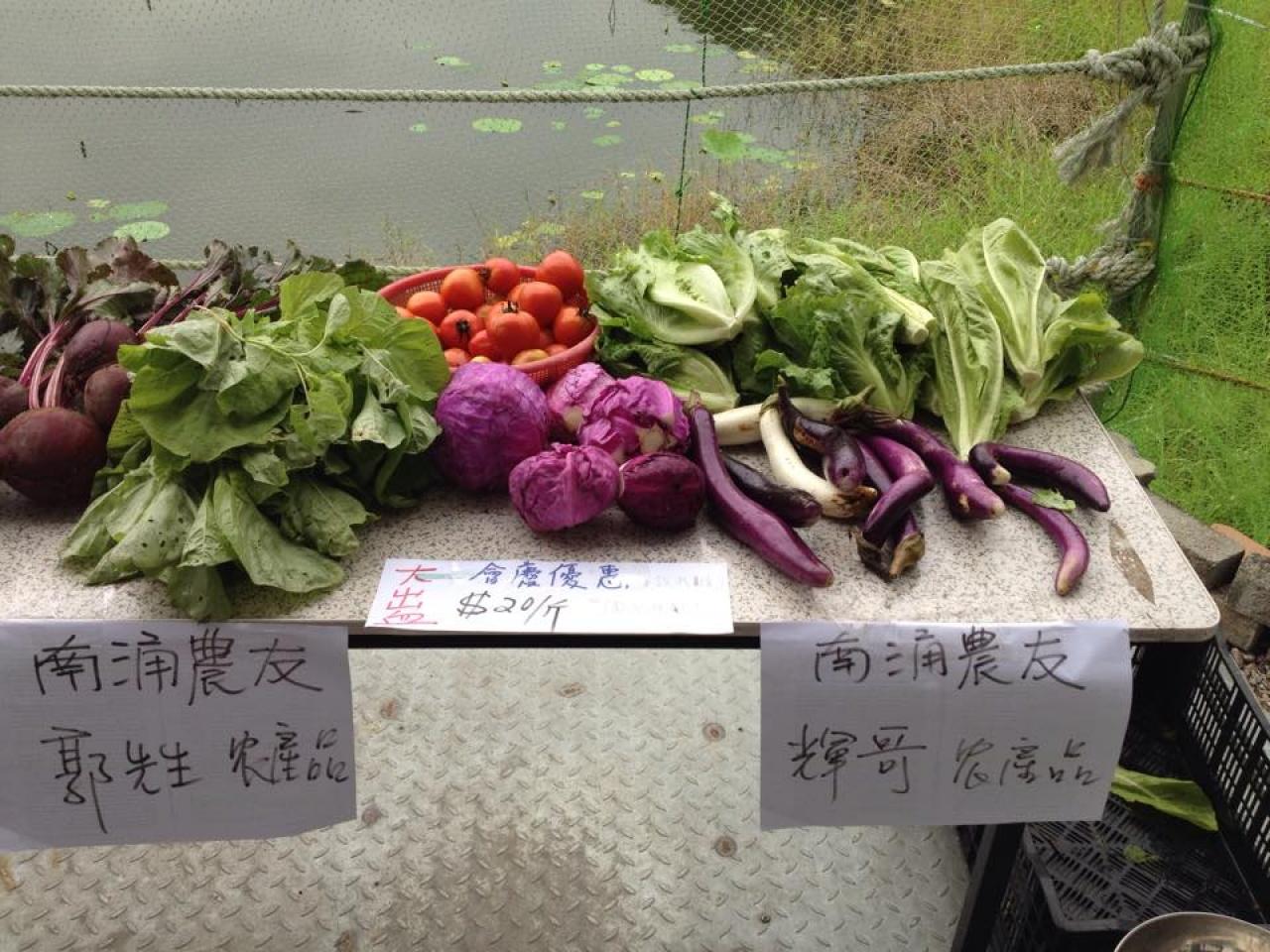 在市集當日,大家會買到活耕建養地協會的農夫和南涌的7位獨立農夫的新鮮作品。(活耕建養地協會 - 南涌FB)