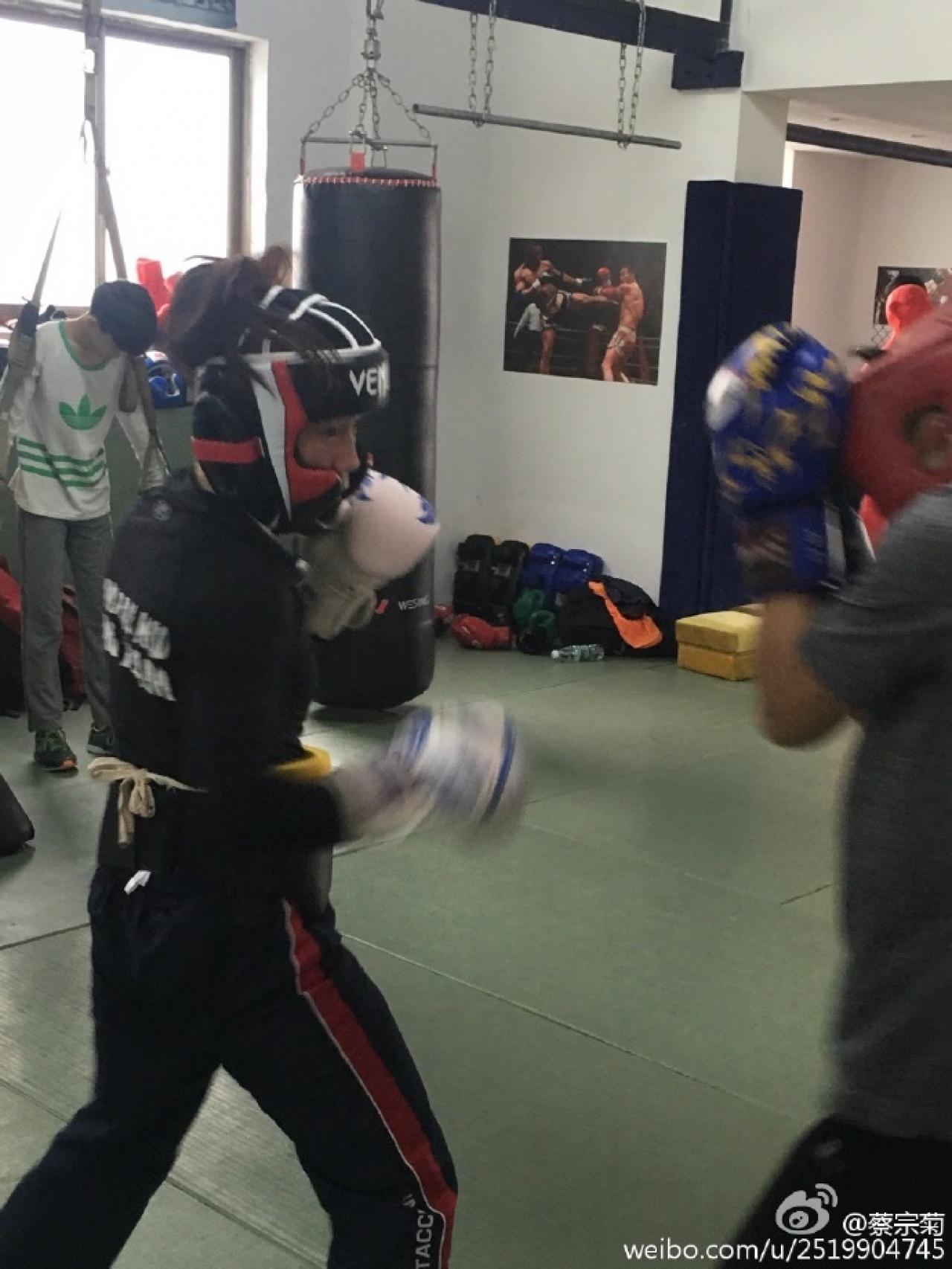 蔡宗菊比賽前,在珠海訓練達7個月。(蔡宗菊微博)