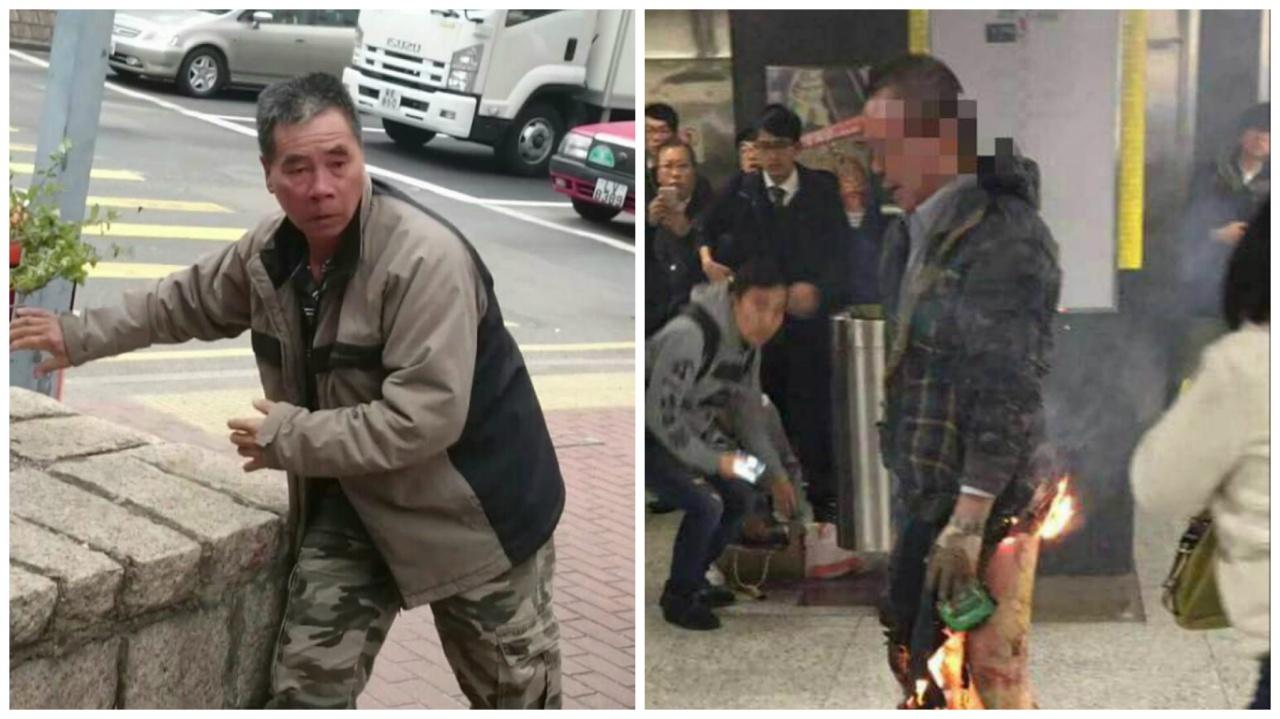 人獸交案被告鍾連輝(左圖:),曾一度被懷疑是港鐵縱火的男子(右圖),後證實二人並非同一人。