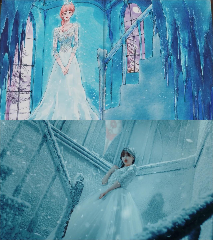 志效化身Elsa公主。(網上截圖)