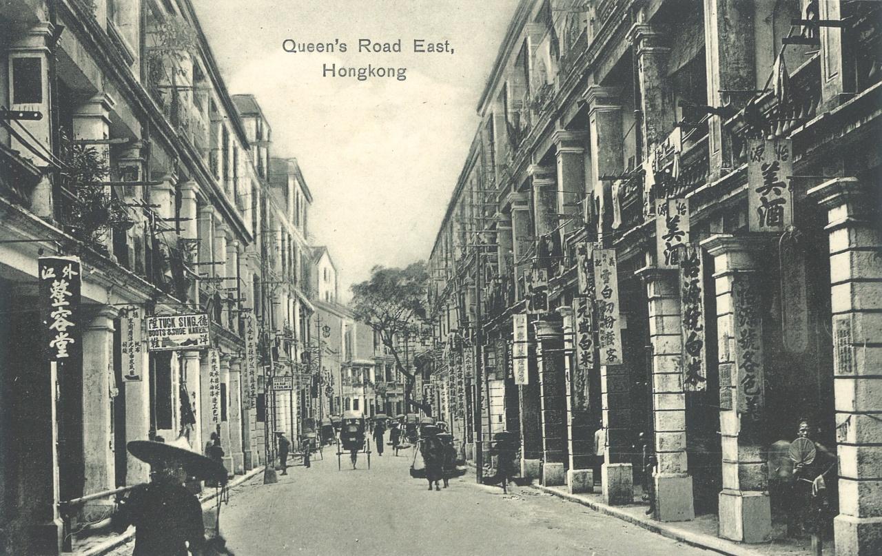 約1905年的皇后大道東。(長春社文化古蹟資源中心提供)