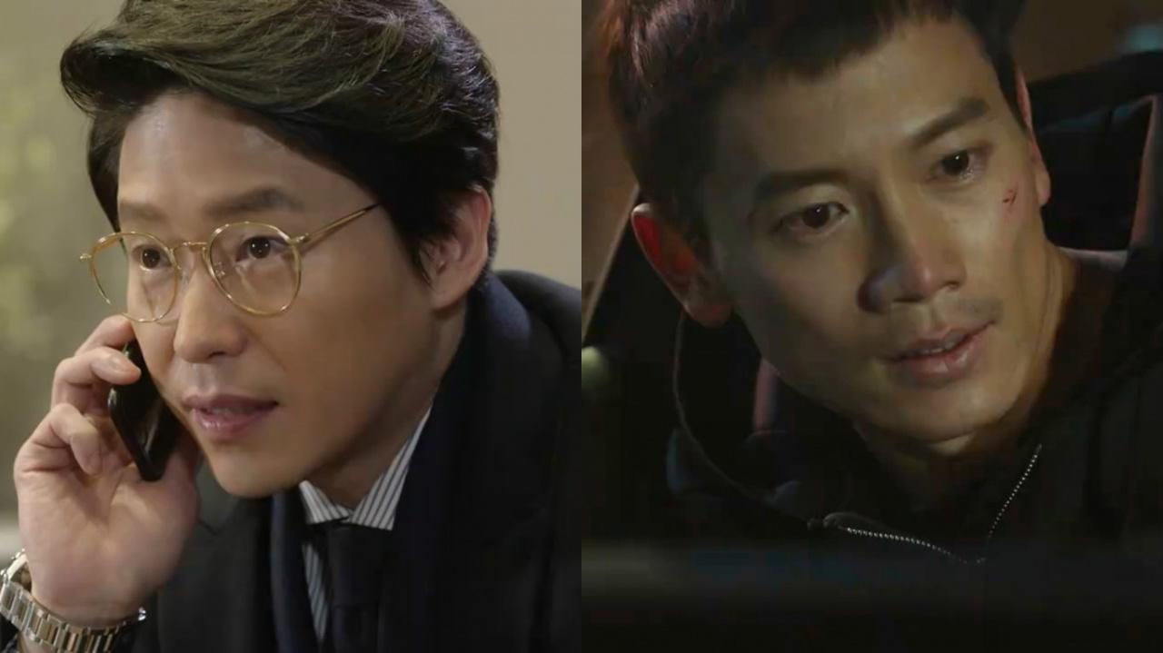 《被告人》第14集劇情愈趨緊湊,池晟與嚴基俊更終於面對面鬥智鬥力!(網上截圖)
