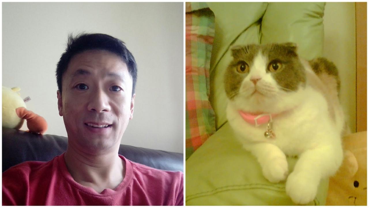 店主阿祥曾養過兩隻貓,特別留意虐貓的報道,希望大眾對小動物多加愛惜。(受訪者提供)
