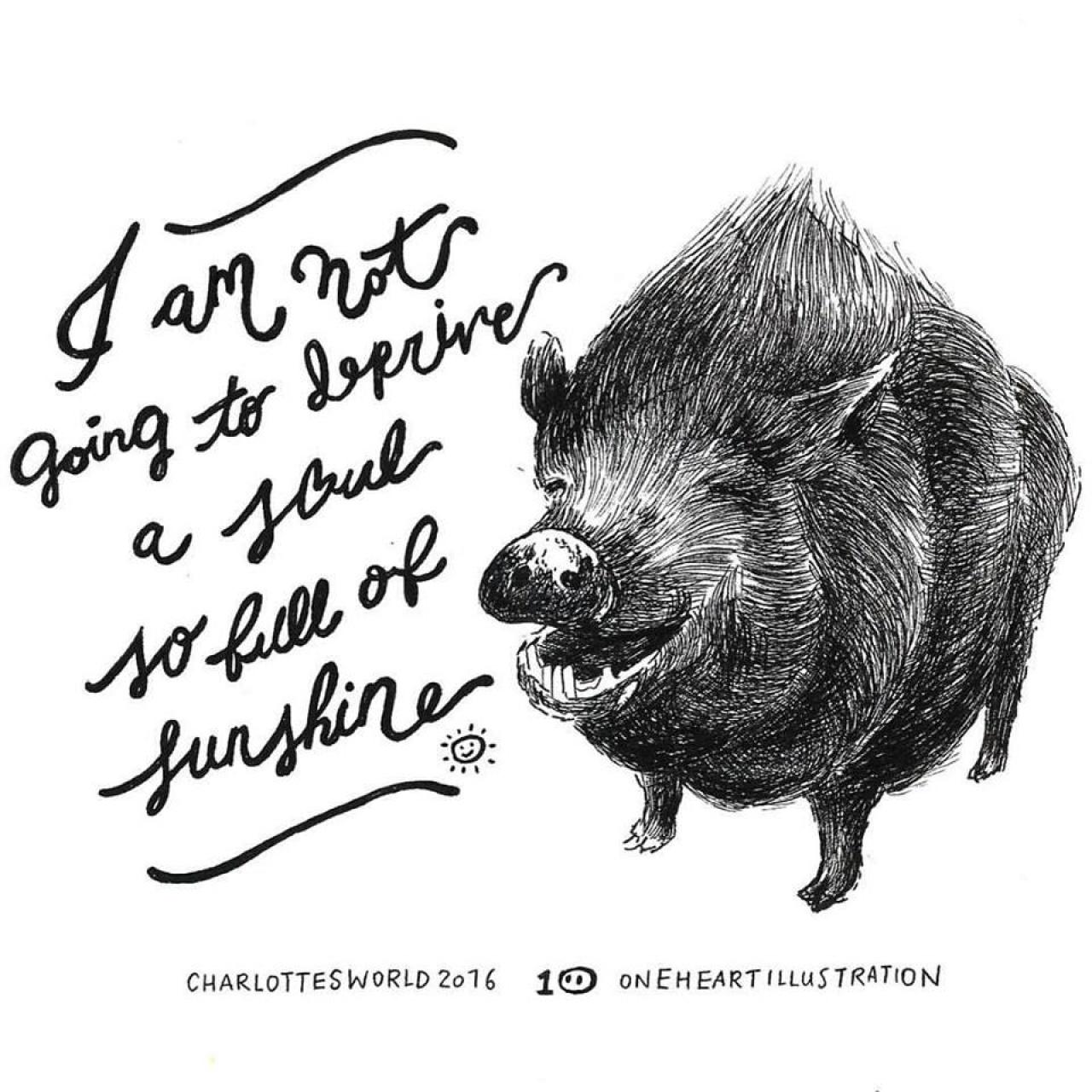 一芯見香港人關心野豬,也希望大家能將關心伸延到家豬。「牠們是多麼的相似呀。」一芯道。(受訪者提供)