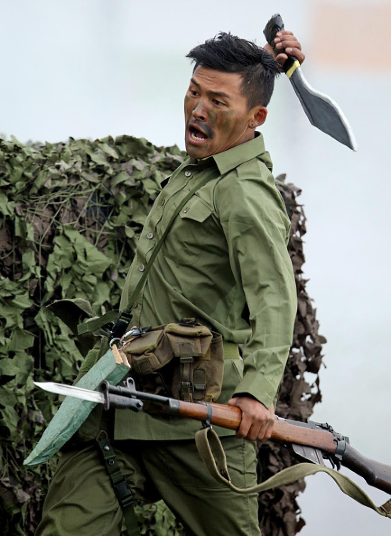 獨特的「啹喀刀」,成為了驍勇善戰的啹喀兵之象徵。(Getty Images)