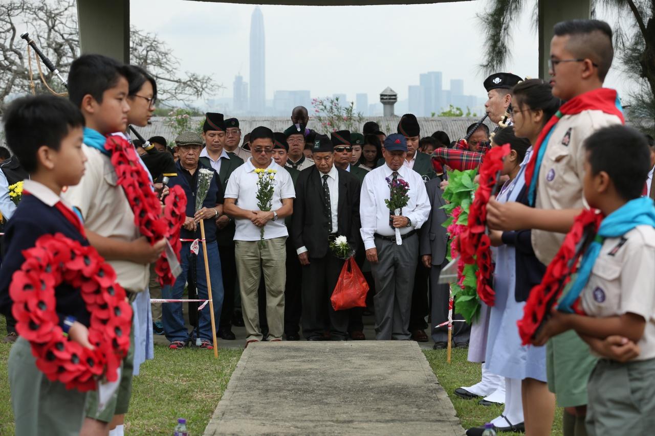 儀式莊嚴肅穆,盛載尼泊爾人對「啹喀兵」祖先的敬意。(蔡正邦攝)