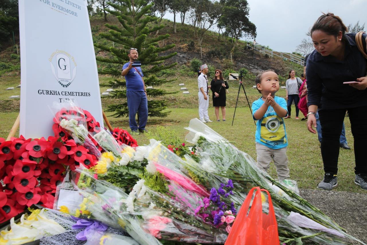 尼泊爾籍小學教師Rai Dev Raj認為,這場儀式對香港的尼泊爾籍新一代,別具教育意義。(蔡正邦攝)