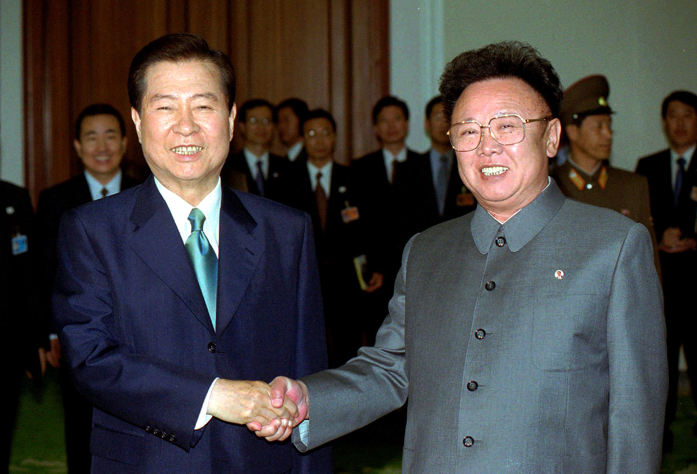 金大中是55年來首名與朝鮮領導人會面的韓國總統。(路透社資料圖片)