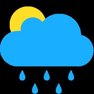 間有陽光,幾陣驟雨